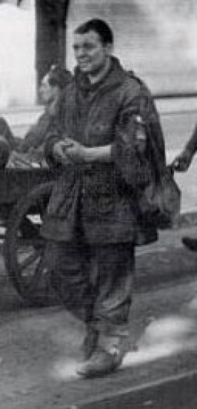 Sgt Manser shortly after his capture at Arnhem.