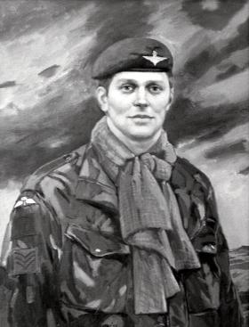 Painting of Sgt Ian McKay VC