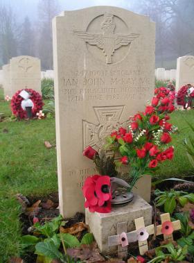 Sgt Ian McKay's headstone, Aldershot Military Cemetery, December 2007.