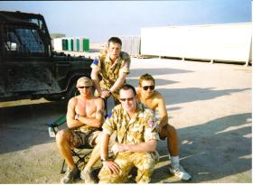 Members of 2 Para  at Shaibah Logistics Base, Iraq, Op Telic