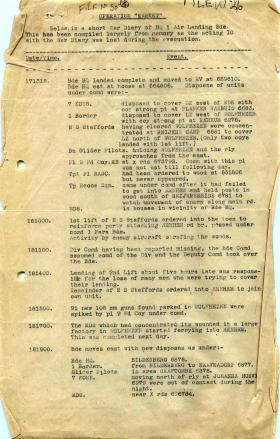 Short war diary of HQ 1st Airlanding Brigade.