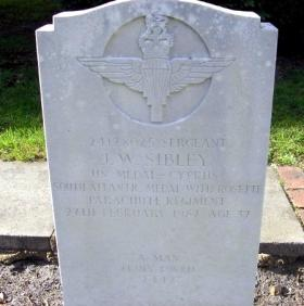 Sgt John Sibley's headstone, Aldershot Military Cemetery.
