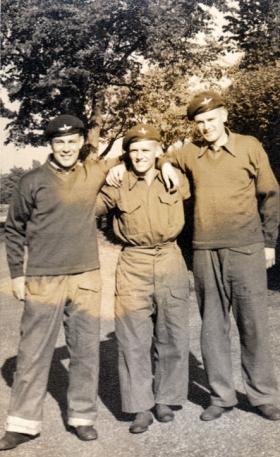 Middle:  Pte Pavett, Airborne Forces Depot, Aldershot, 1954.