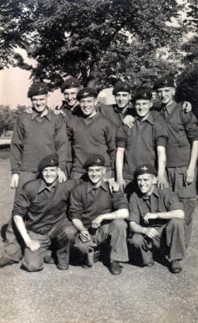 Group of recruits at Airborne Forces Depot, Aldershot, 1954.