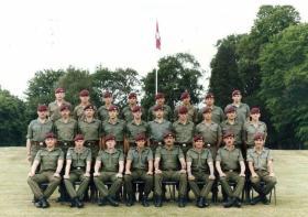 Signals Platoon, 2nd Battalion, The Parachute Regiment, Montgomery Lines, Aldershot. 1989.