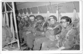 Members of 10 PARA on an Argosy 1968