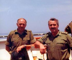 RSM Simpson and QM Capt Godwin, MV Norland, 1982