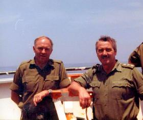 RSM Simpson and QM Capt Godwin, MV Norland, 1982
