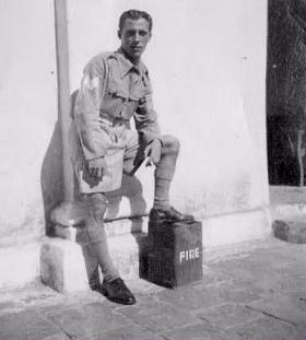 Sgt Sidney Round at ease in India