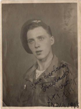 Portrait photograph of Sidney Round, India 1945
