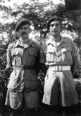 Unknown and L/Cpl Sennett, 5th Para Bde, Singapore c1946.