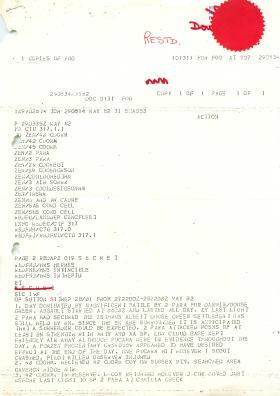 Situation reports form HQ 3 Commando Brigade, Falklands, 1982.