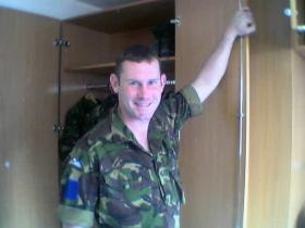 Pte Bremner Scott's first day in Battalion