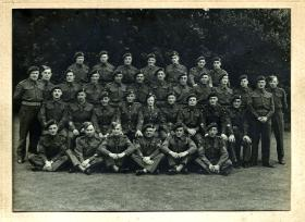 1st Airborne Division Workshops, R.E.M.E. Warrant officers and Senior Ranks, Sleaford, Lincolnshire, July 1944.