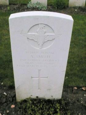 Headstone of Pte Arthur Smith, Reichswald Forest, 2010.