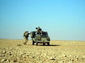 2 PARA Sniper Platoon WMIK, Saudi Border, Iraq, 2005.