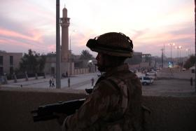 Soldier from 2 PARA at an OP in Al Muthanna province, Iraq, Op Telic 7, 2006
