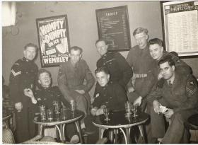Soldiers from Airborne Forces Depot enjoy a night out in London, 1953