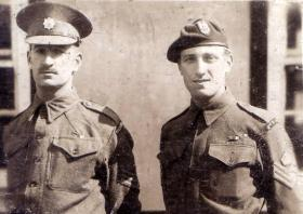 Sgt Charles Alcock, Coldstream Guards, and C/Sgt  J Alcock 2 SAS, date unknown.