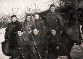 Members of 398 (Airborne) Composite Company RASC, Holland, 1945.