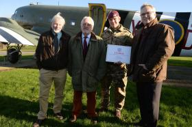 Donation to SUPPORT OUR PARAS at Merville Barracks, 15 January 2016.