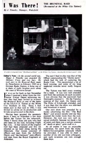 Excerpt from 'Sparks' (the M&S staff magazine) on re-enactment of Bruneval Raid, 1953.