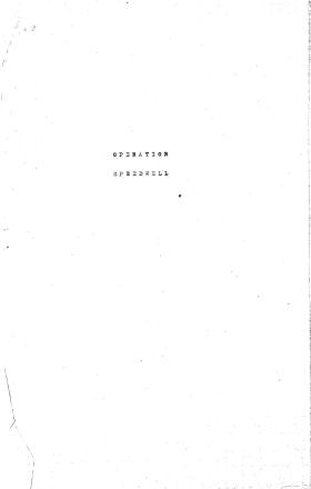 Post combat report for Group 1 Operation Speedwell, 1943.