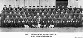 216 Parachute Signal Squadron, Aldershot, January 1971.
