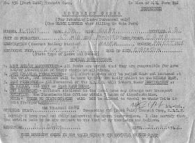 L/Cpl Bixby's Movement Order for Port Siad Transit Camp, Palestine, 30 June 1947.