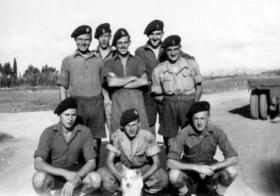 Motor Transport (MT) Section of 6th AB Div Provost (CMP), Palestine, date unknown.