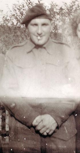 Private Barrett, with Pegasus Badge and Chevron c1944.