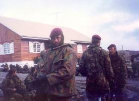 L/Cpl Volf, 2 PARA, Stanley on the morning of the surrender, Falkland Islands, 1982.
