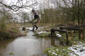 Steeplechase, P Coy, ITC Catterick, March 2013.