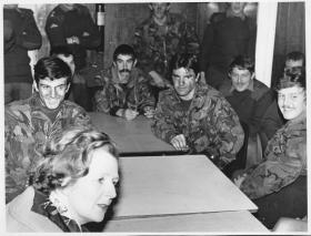 Stephen Prior (at rear) with Colleagues, Meeting Margaret Thatcher