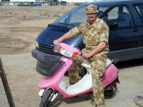 Pte Steve Lewis, 2 PARA,  Iraq, 2005.