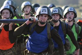 The Stretcher Race, P Coy, ITC Catterick, March 2013.