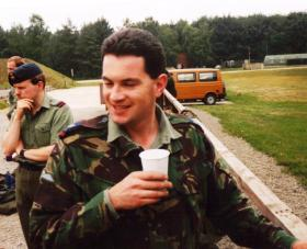 Stuart Mackie, whilst serving with RAF Provost, Germany, 1990