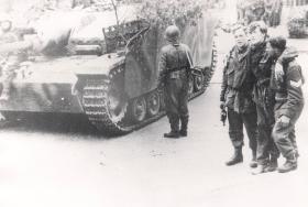 German Stug III with Surrendering Airborne Troops, Arnhem , 1944