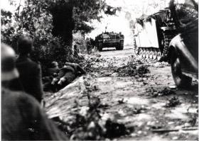 German Stug IIIs Advance on British Positions, Arnhem, 1944