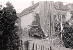A German Sturmhaubitze III With a Parachute Draped Nearby, Arnhem, 1944