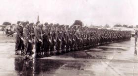 3rd Para Bn on parade, Aldershot 1950s