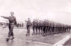3rd Para Bn, Parade at Aldershot, 1950s.