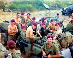 Members of Mortars Pln, Support Coy, 2 PARA, Exercise Deep Furrow, Turkey, 1974.