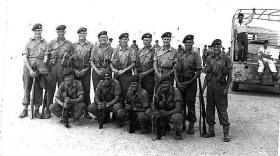 Support Coy, 2 PARA, Small Arms Team,  Moascar 1954.