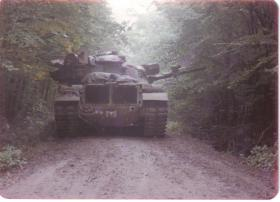 Tank on Exercise Crusader 1980