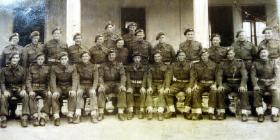 Group Photograph possibly of 11 Platoon, T Company, 1st Parachute Battalion in Italy 1943.
