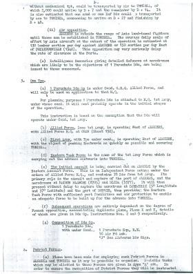Operation Torch, 1st Parachute Brigade Operation Instructions No. 1, October 1942.