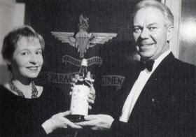 Pam Parker and Col Alan Rutherford, 1991.