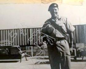 W02 Hay, Sgts Mess, Camp Hamala, Bahrain, June 1963.