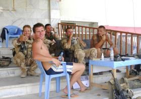 3 PARA soldiers taking a break, Kandahar, Afghanistan, June 2008